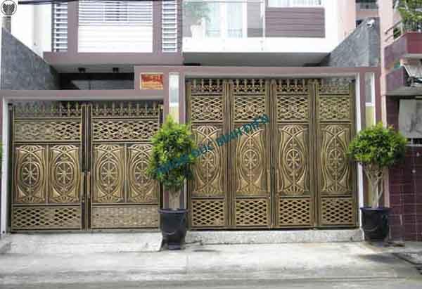 Cửa cổng hợp kim nhôm đúc BG-015
