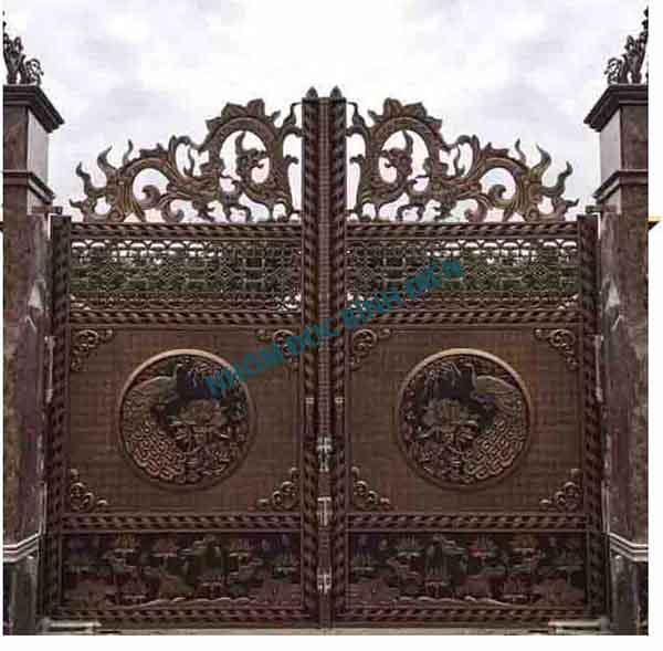 Cửa cổng hợp kim nhôm đúc BG-038