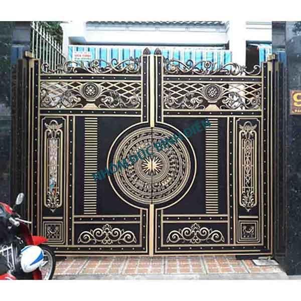 Cửa cổng nhôm đúc hợp kim trống đồng BG-039