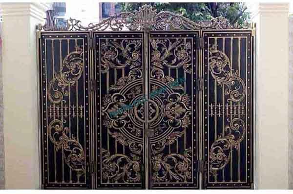 Cửa cổng hợp kim nhôm đúc mẫu BG-043