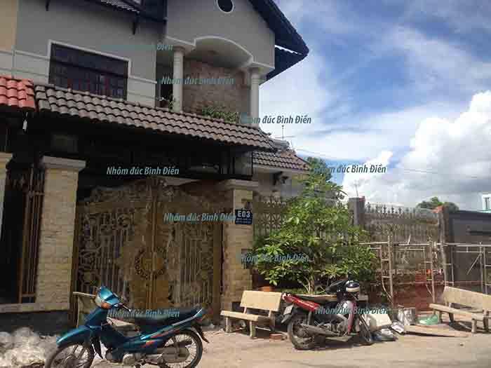 Cổng nhôm đúc tại Mỹ Tho - Tiền Giang