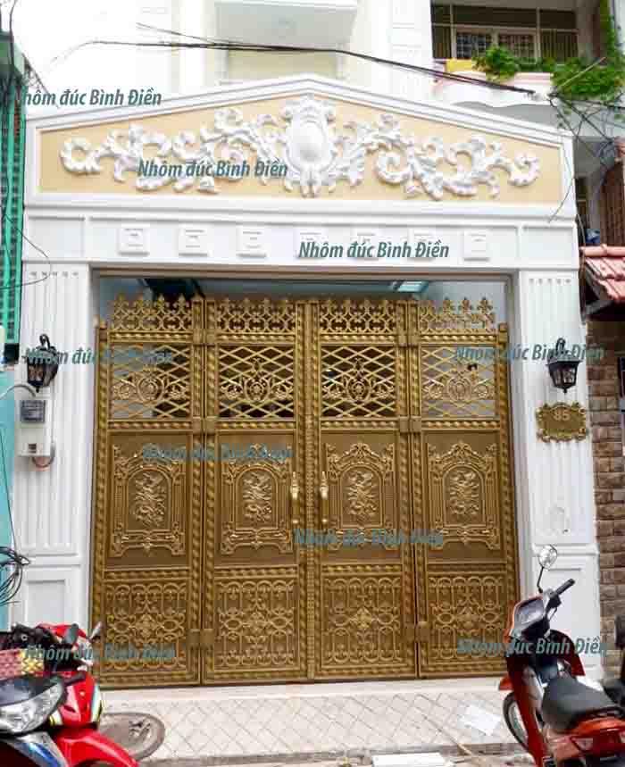 cổng nhôm đúc hợp kim quận Tân Bình